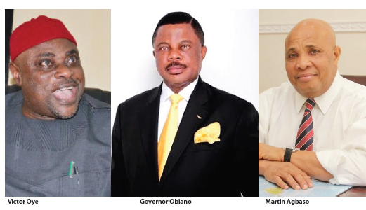 Image result for pictures of gov Obiano, Agbaso and Oye