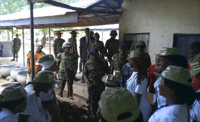 NYSC DG decries poor state of A'Ibom Orientation Camp - the director general, the director, state, orientation camp, orientation, NYSC, akwa ibom state