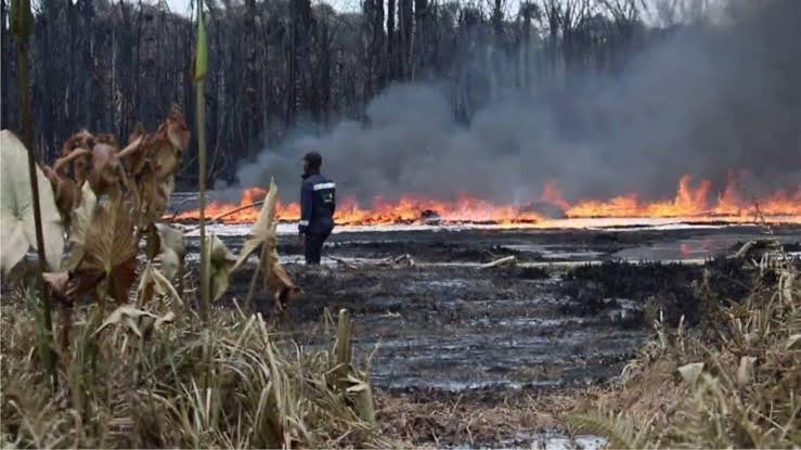 Pipeline explosion: NOSDRA orders clean-up of polluted site in Oyigbo - Port Harcourt, pipeline explosion, pipeline, nosdra, explosion