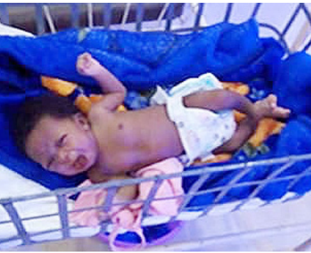 3-week-old baby found under teaching hospital staircase - week old, week, public relations officer, old baby, old, baby