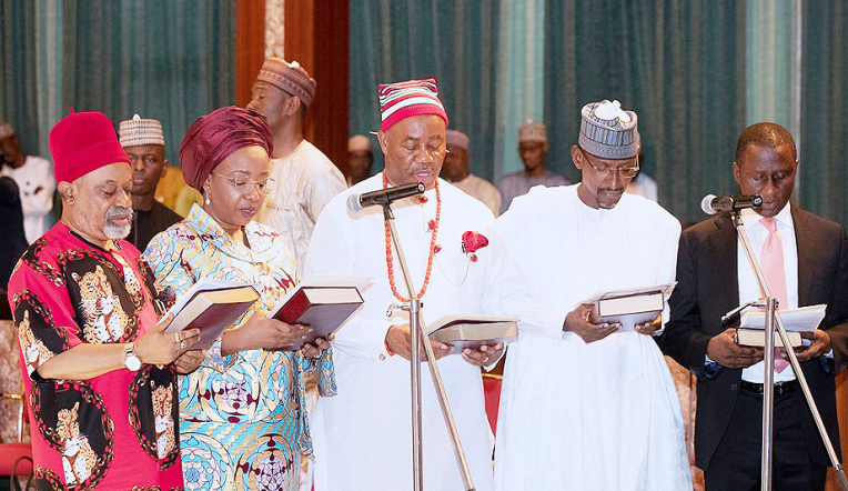 Buhari tasks new ministers on hard work, delivering results - the presidential villa, President Muhammadu Buhari, president muhammadu, new ministers, new, Ministers, Buhari