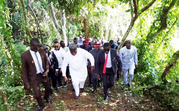 Ugwuanyi orders demolition of caves in Awgu forests, other kidnappers' hideouts - visited the, Ugwuanyi, enugu port harcourt, demolition, caves, along enugu port, along enugu