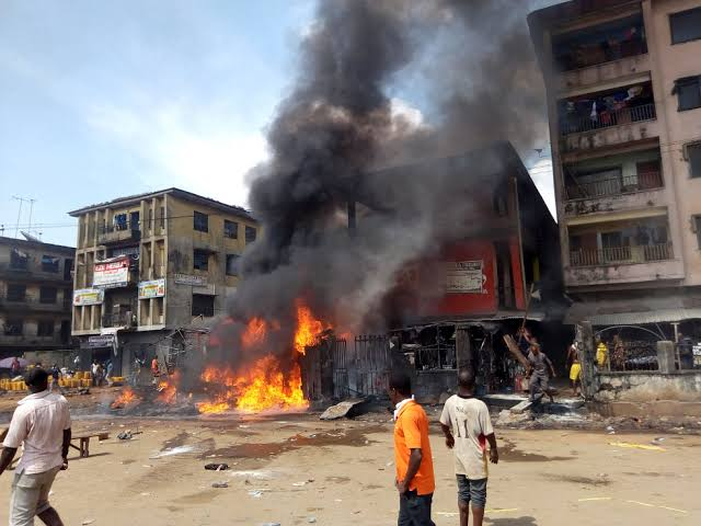 How petrol fire wreaked havoc in Onitsha - who lost their, Red Cross, red, Onitsha, mother and, mother, Fire, child, Anambra State